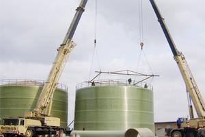 玻璃钢河南现场大罐当选新意复合材料——大型容器