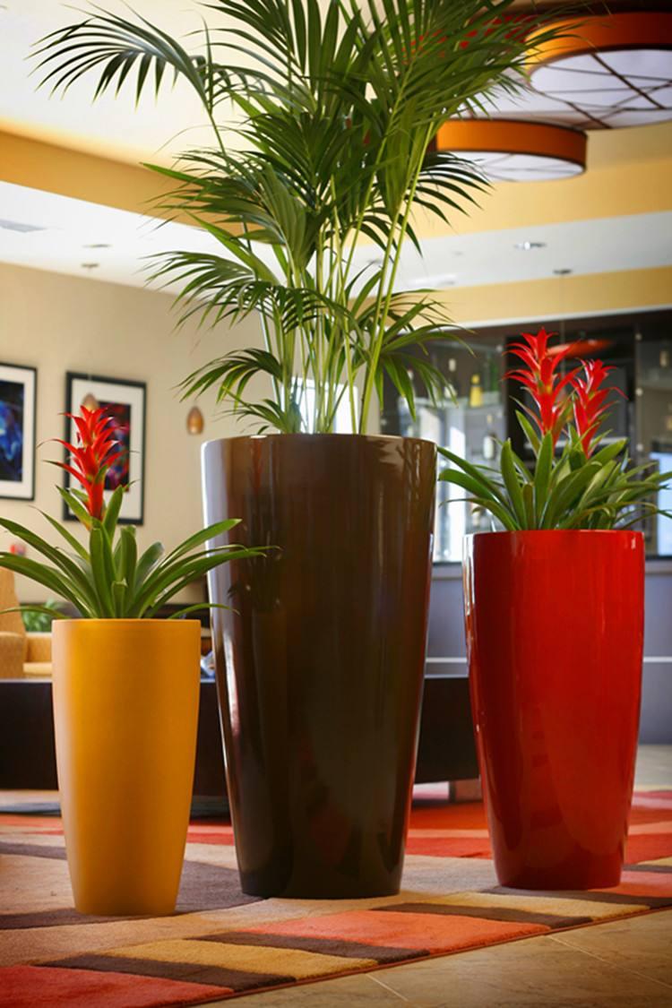 價位合理的玻璃鋼雕塑產品 吉林定做室內外花盆玻璃鋼垃圾桶
