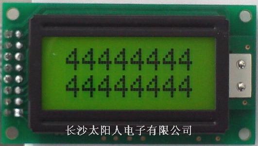 标准液晶显示模块2*8
