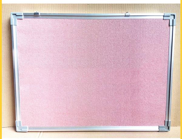 大铝边粉红色布面告示板_告示板供应商哪家好