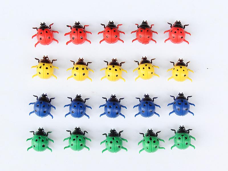仿真瓢虫创意家居微景观装饰磁性冰箱贴DIY摆件树脂工艺品