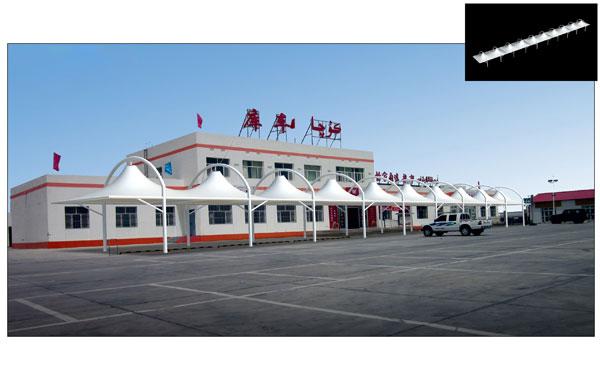 阿克苏膜结构车棚安装 新疆膜结构车棚供应