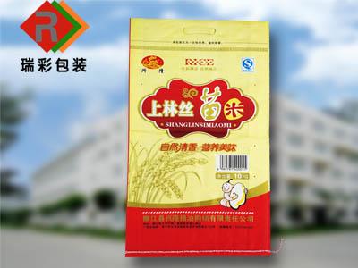 甘肃彩印大米袋,兰州面粉袋