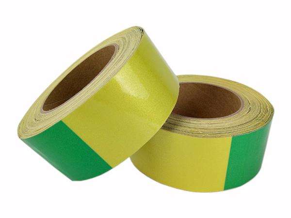 广西电线杆防撞警示贴,黄绿反光标识