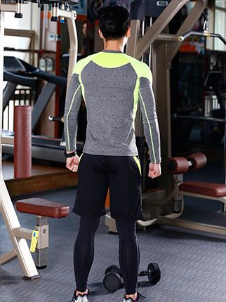 男装夜跑运动服定做-供应东莞热卖男士健身服饰