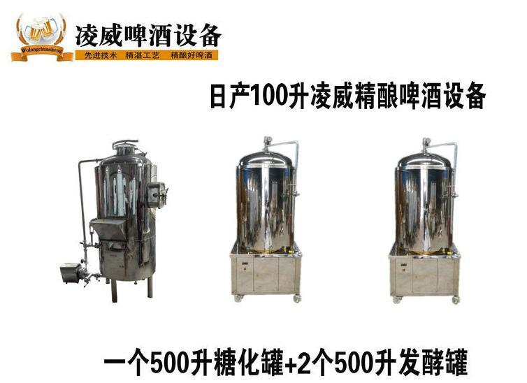 自酿啤酒设备 精酿啤酒设备 南阳凌威啤酒设备生产厂家