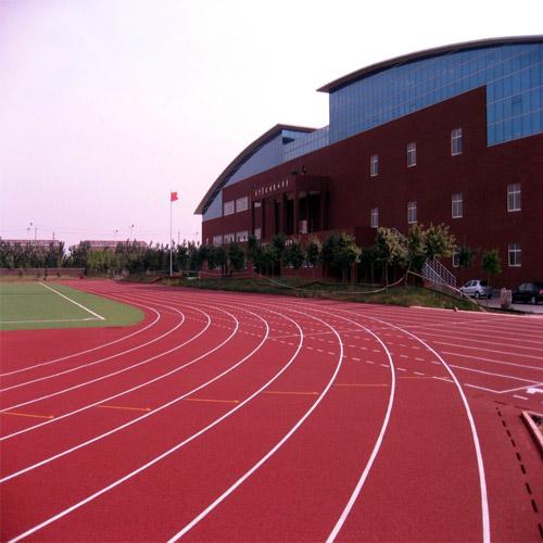 有保障的透气型跑道施工就在绿晨体育设施——九江塑胶球场施工