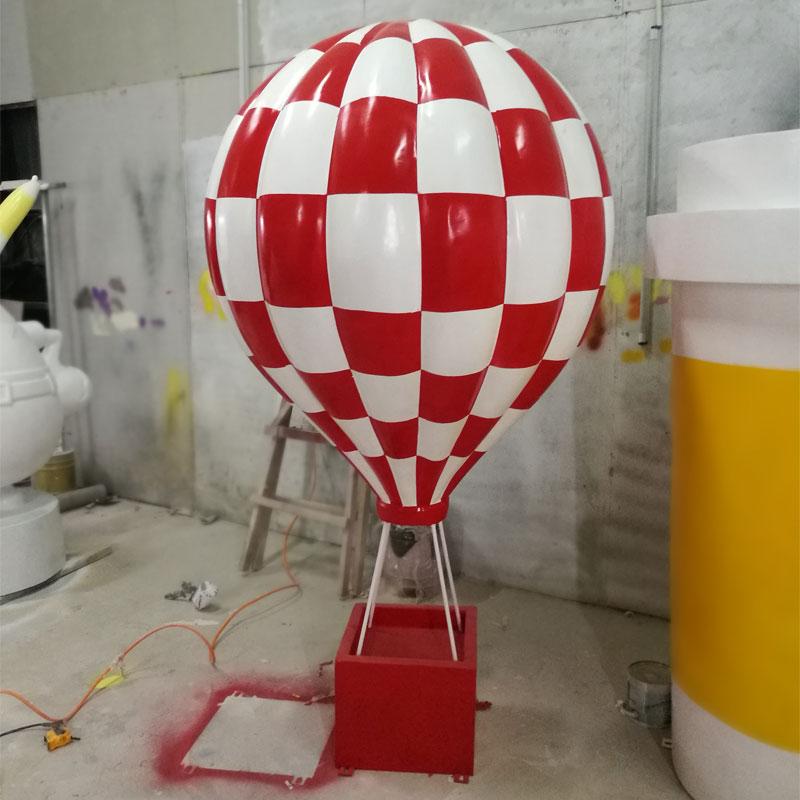 创意大型玻璃钢热气球商场楼盘开业庆典道具