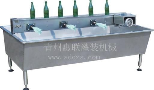 六头半自动刷瓶机电动刷瓶机玻璃瓶清洗设备简易型