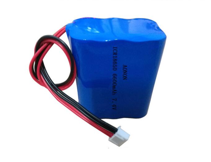 7.4V 6600mAh心电监护仪锂电池组