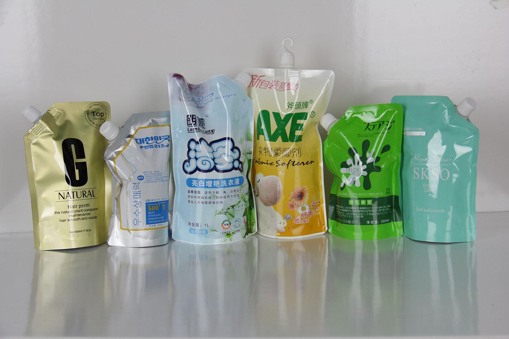 厂家直供吸嘴自立包装袋洗涤洗衣液包装袋定制包装袋