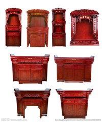 佛山具有口碑的红木神台,认准尚方圆家具|桂林神台对联