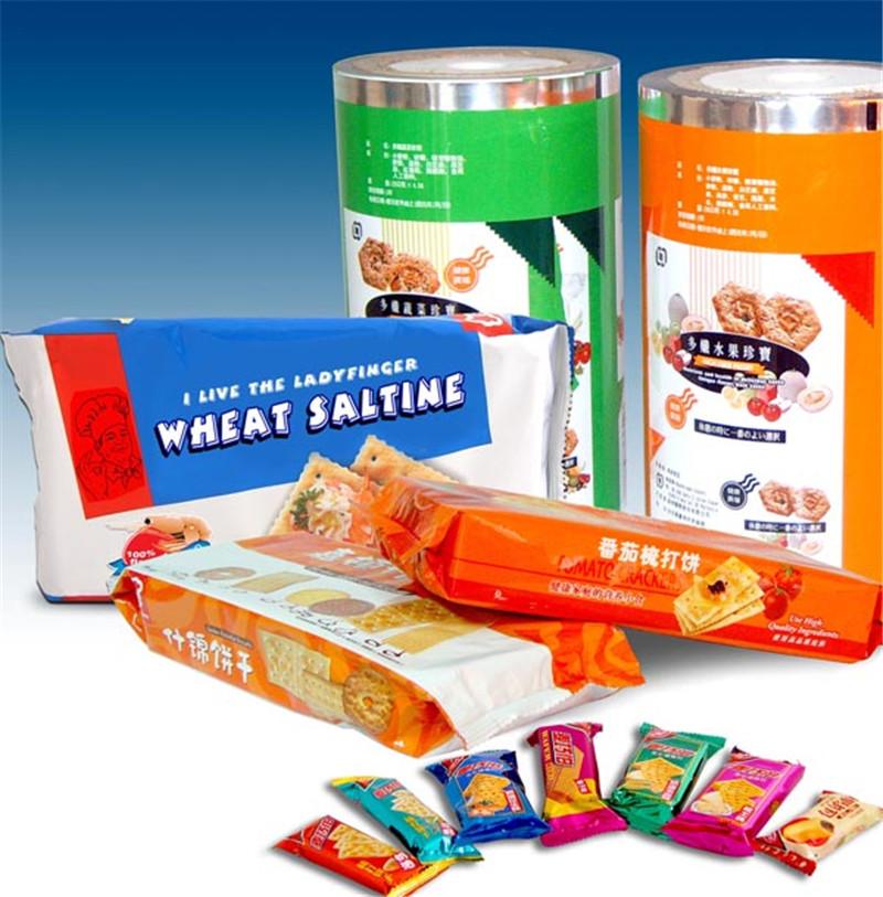 厂家食品塑料袋薯片干果卷膜定制BOPP/PET镀铝糖果包装膜