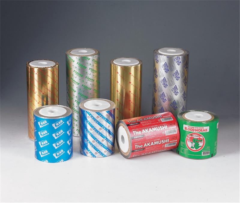 厂家直销彩印食品湿巾纸巾铝箔复合塑料自动包装卷膜杯盖膜
