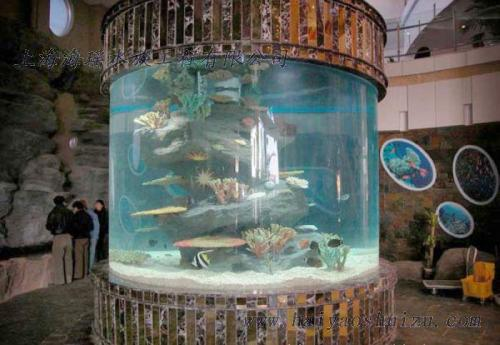 亚克力圆形鱼缸圆柱型鱼缸圆柱形水母缸