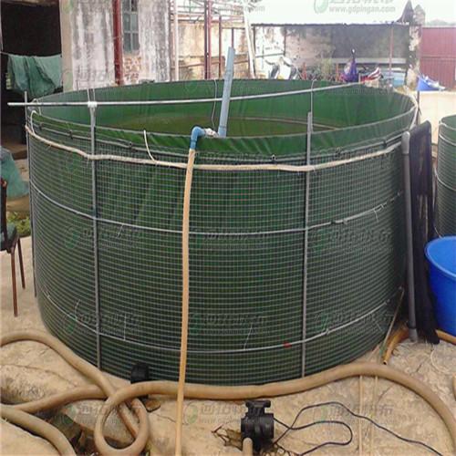 临养池_防渗PVC涂层布_可尺寸定做的帆布鱼池_JL600A