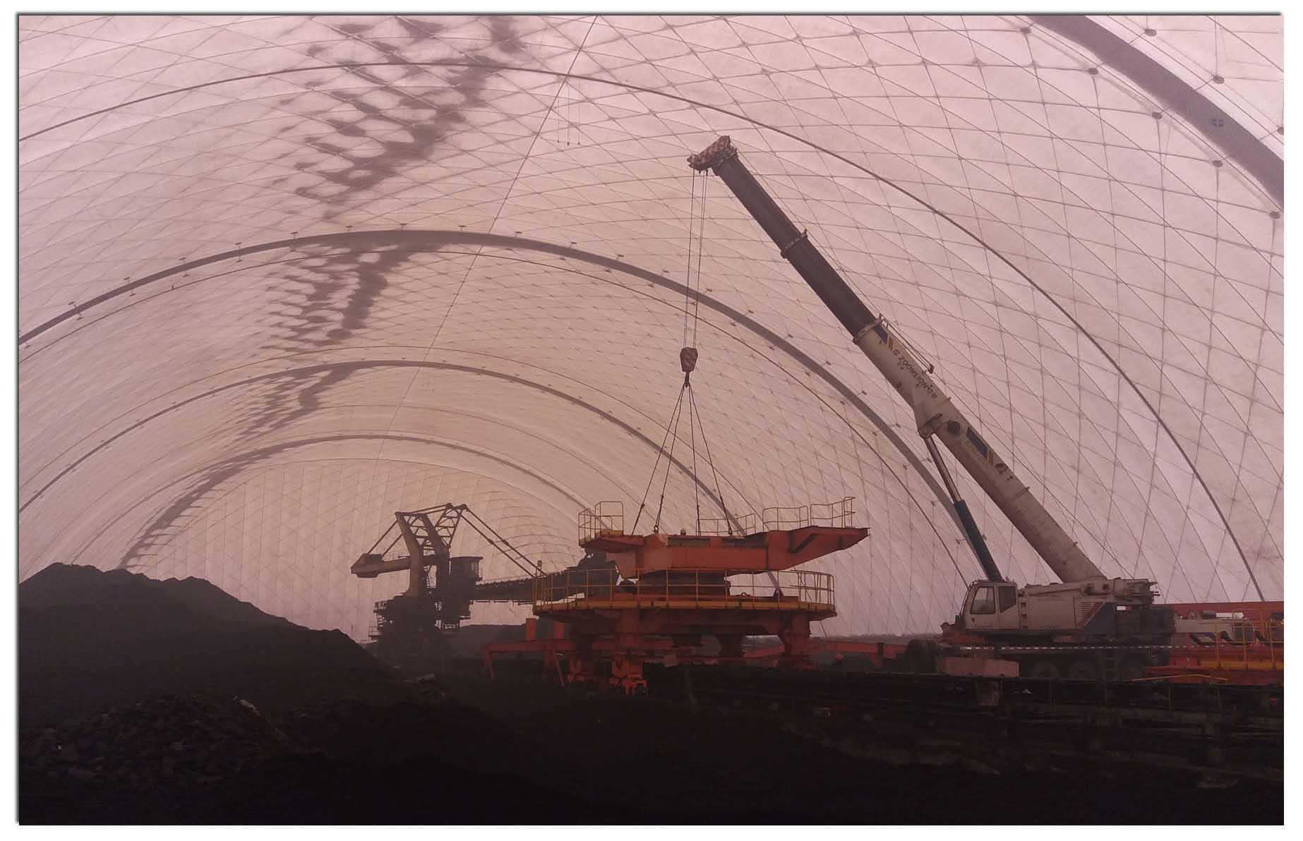 青海西宁西藏拉萨膜结构煤棚,气膜结构煤棚专业制造厂家