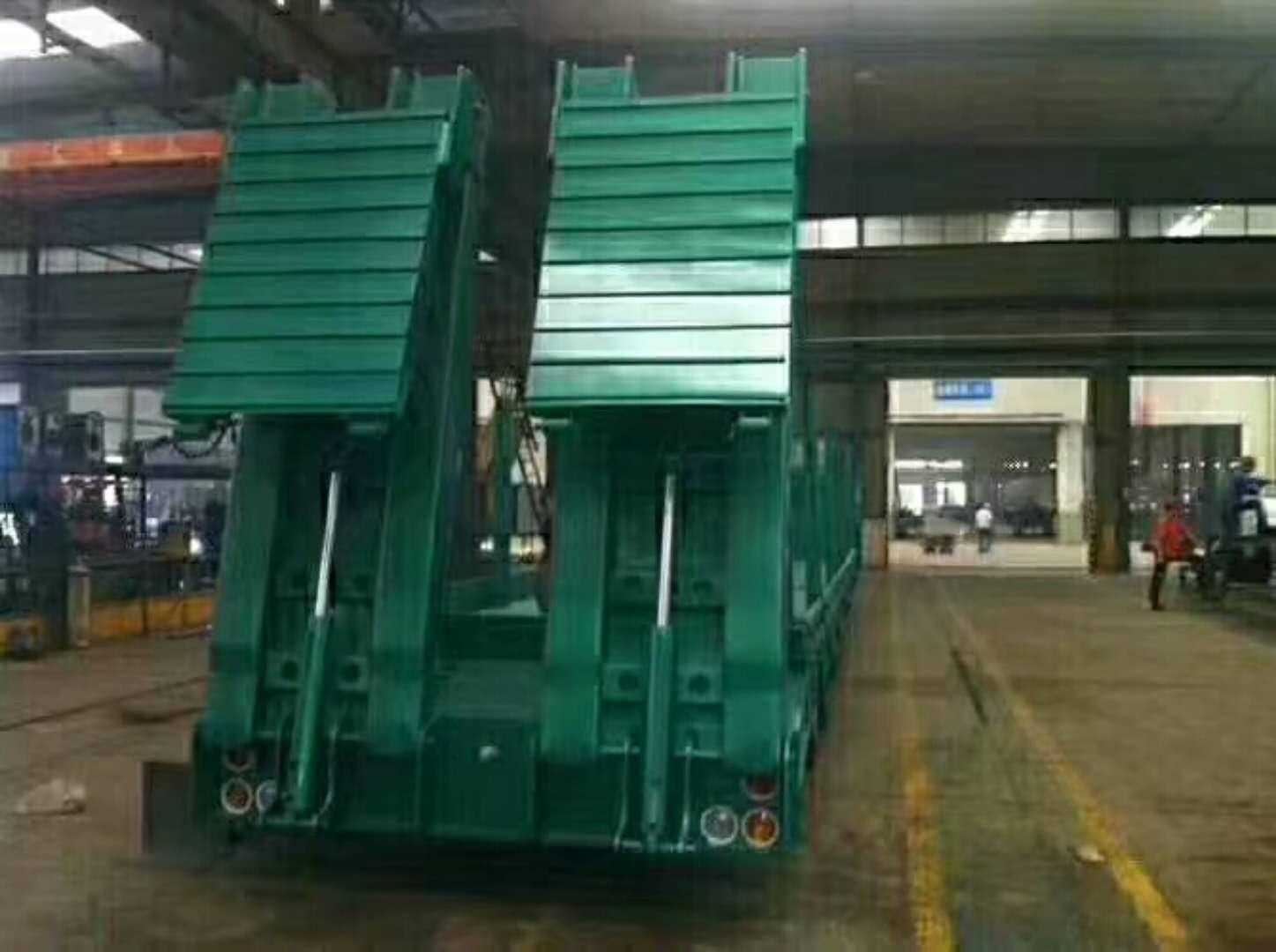 河南开封低平板半挂车厂家制造公司,三线六轴重型低平板半挂车
