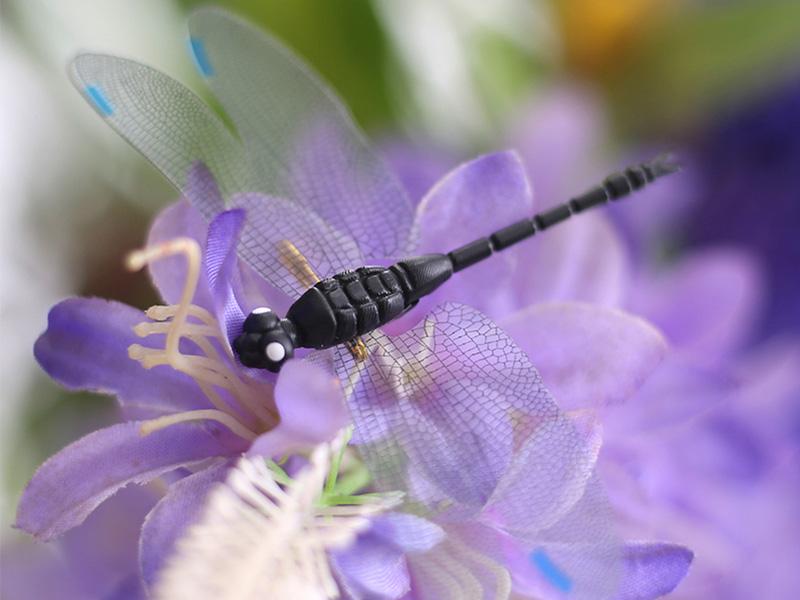 8.5厘米小号仿真蜻蜓立体磁性冰箱贴园艺装饰拍摄道具