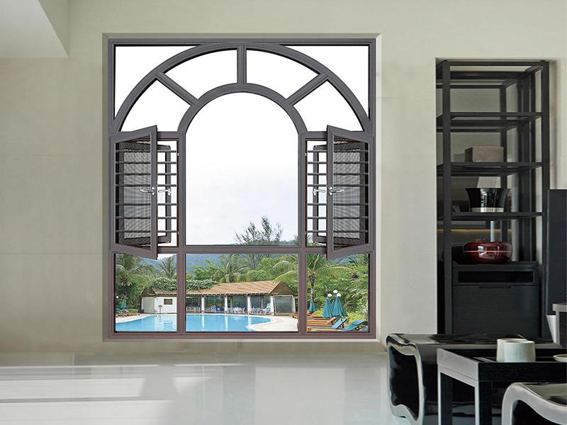 十大断桥铝门窗品牌-哪里有卖新款110断桥窗纱一体平开窗