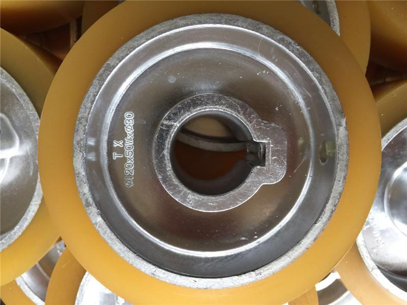厂家供应木工机械四面刨铝芯聚氨酯PU包胶轮