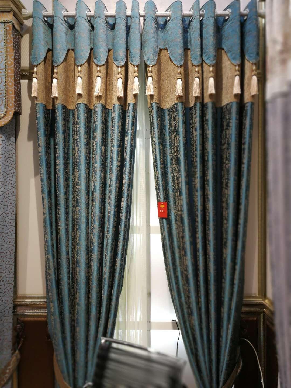 美式灰色丝绒卧室遮光定制现代成品