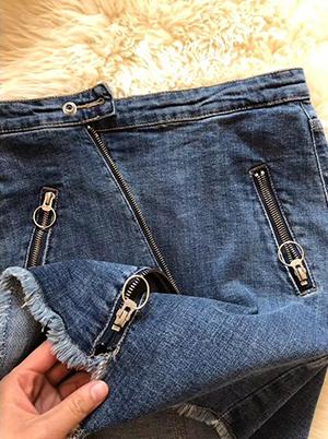 女装供应-拉锁牛仔半裙生产商,推荐平常心服装店