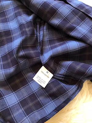 女裝價格 上海質量好的藍色格子開衫批發出售
