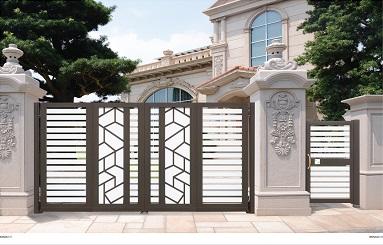 为您推荐南宁华轩装饰品质好的铝艺门-柳州铝艺门价格