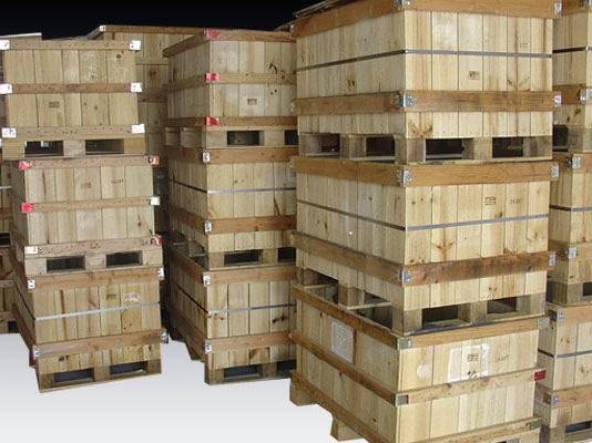 沙田钢带木箱厂-大量出售钢带木箱