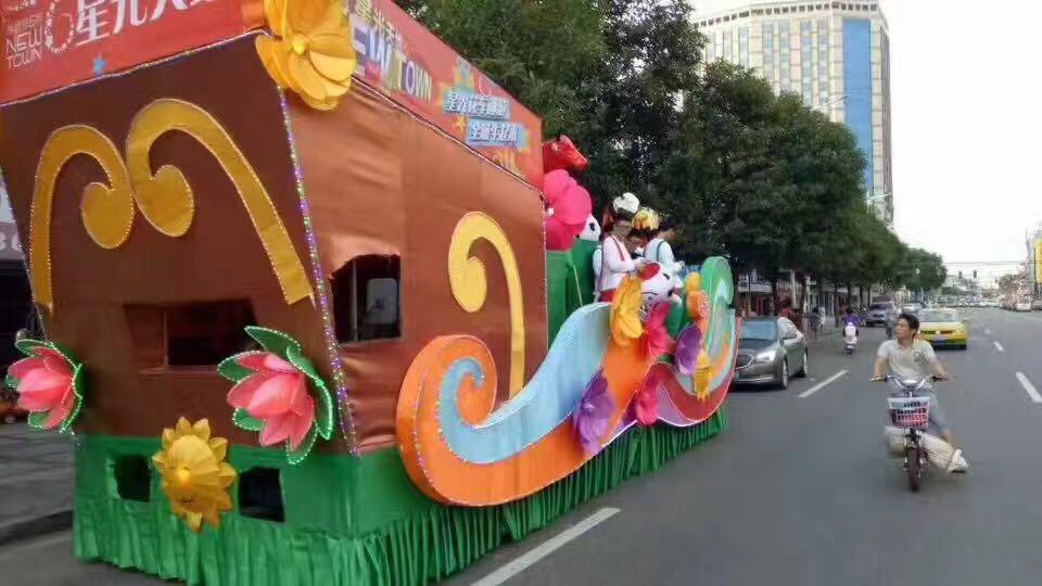 花车彩车-庆典花车-制作花车厂家-童记彩灯彩车