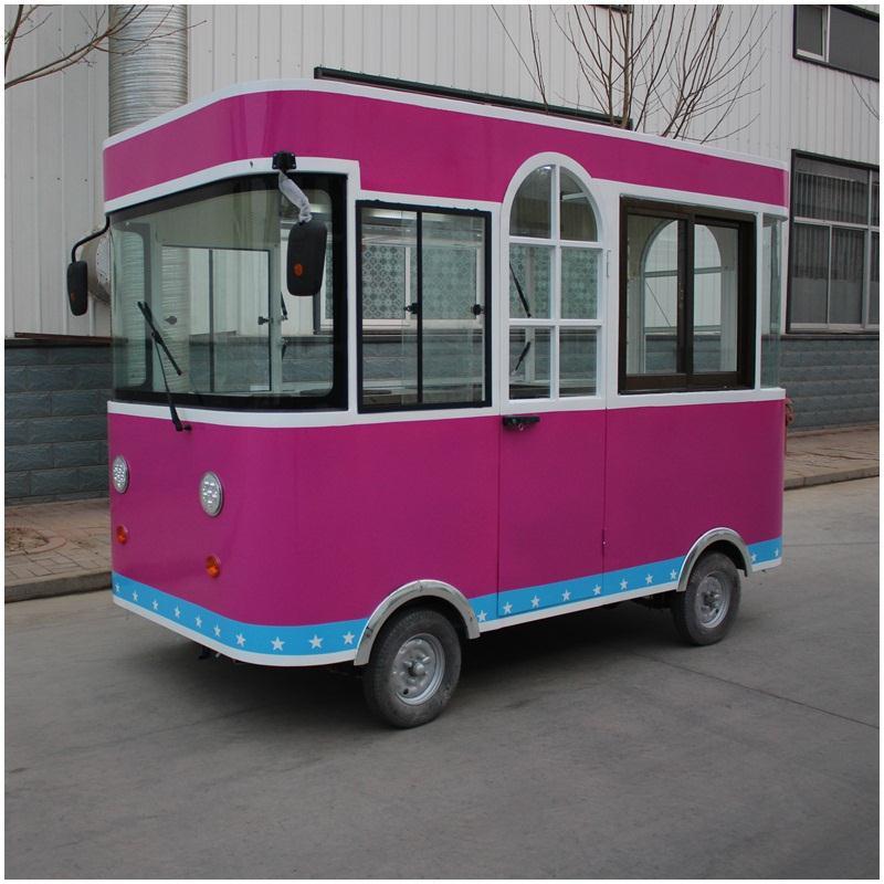 德州优质卤肉卷餐车厂家_四轮移动街景餐车价格