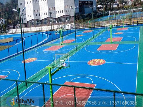 pu 篮球场 上海市可信赖的篮球场塑胶地板供应