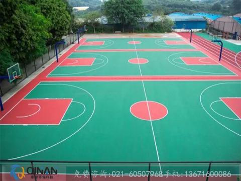 篮球场塑胶地面施工-秦岸环保科技专业供应篮球场塑胶地板