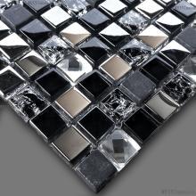 黑色水晶背景墙低价甩卖,宏彬装饰材料行提供的冰裂玻璃电视背景墙好不好