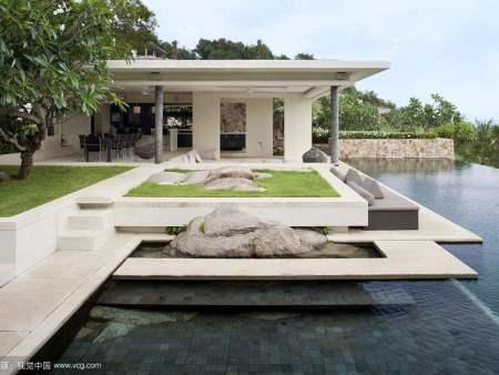 江北别墅景观设计庭院,久意园林_专注重庆私家花园设计的公司
