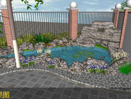 沙坪坝农村别墅花园设计-重庆私家花园设计_久意园林_实力可靠