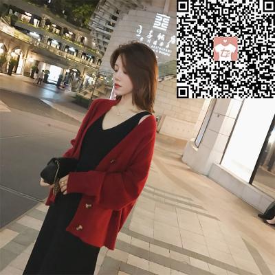 气质v领针织连衣裙生产商,推荐艳红女装批发店-女装批发价格