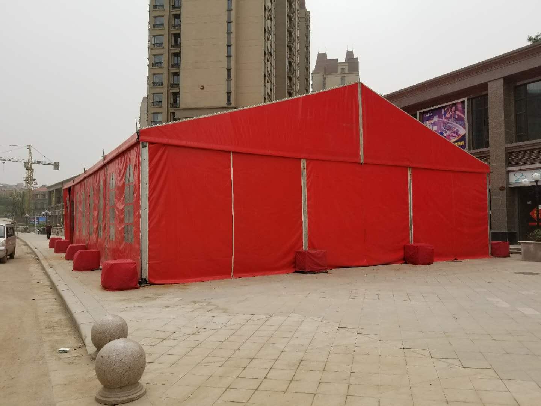 2018【放心的】郑州红色篷房租赁厂家