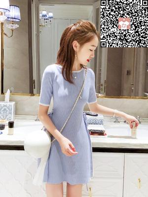款式新颖的小香风针织连衣裙出售_可爱的小香风针织连衣裙