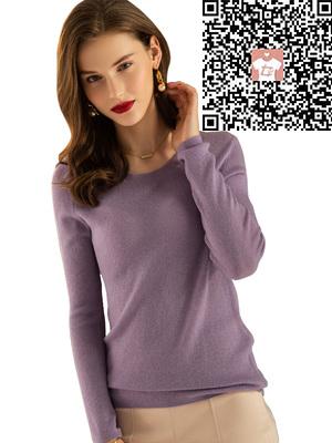 艳红女装批发店供应前?#33713;?#34966;圆领纯羊绒衫|圆领纯羊绒衫价位