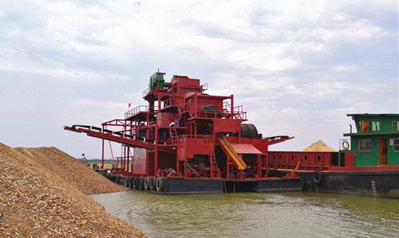 挖沙淘金船出口