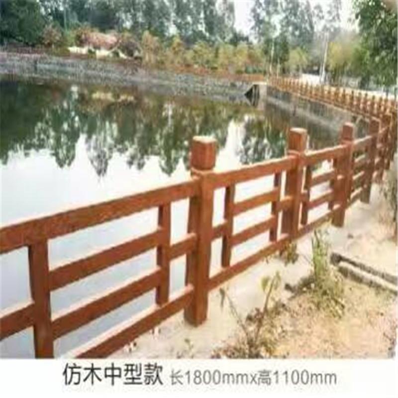 咸宁仿木栏杆厂家-物超所值的仿木护栏肖氏景观工程供应