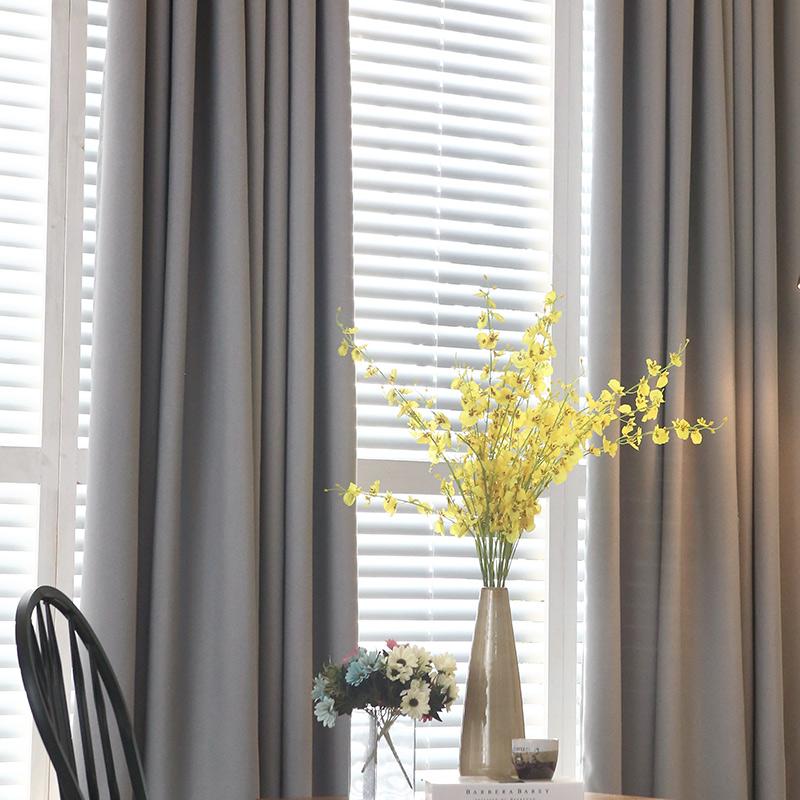 新的北欧纯色窗帘_绍兴质量好的灰色遮光窗帘上哪买