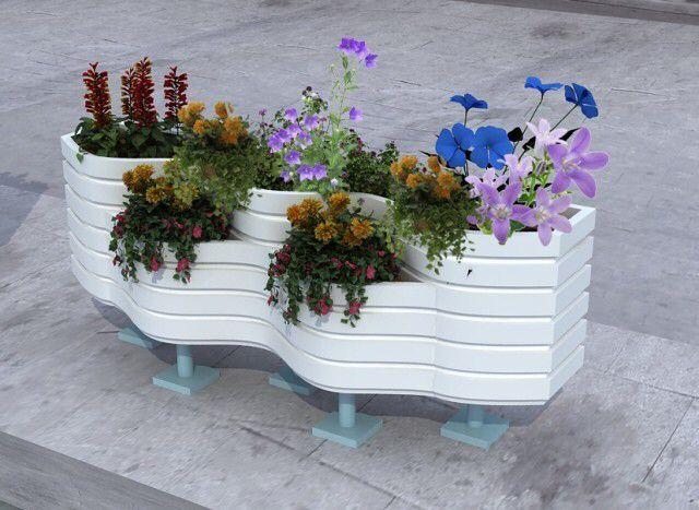口碑好的花箱供應商,當屬隆森景觀設施 塑木花箱組合