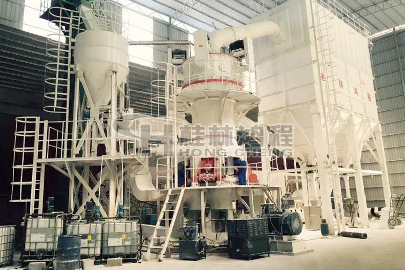 矿渣立磨价格立磨机耐磨材料桂林鸿程HLM超细粉立式磨粉机