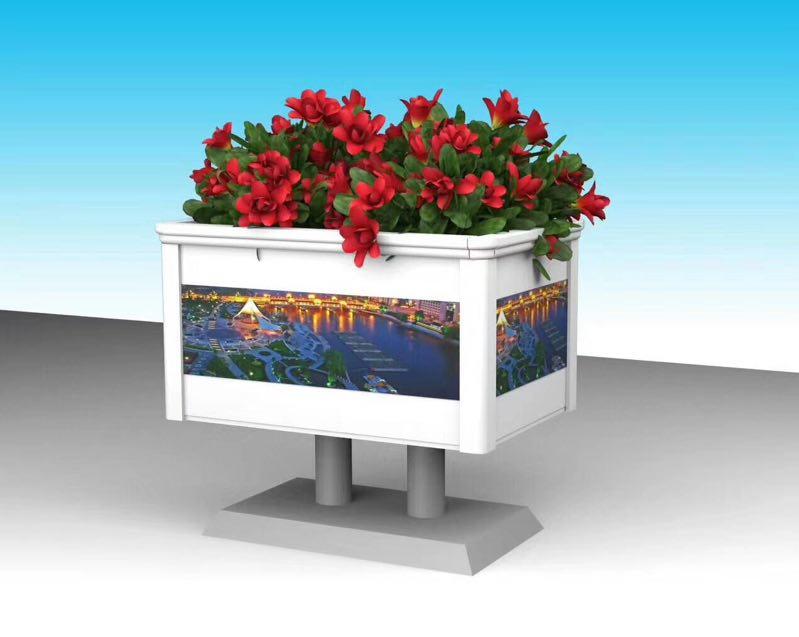促销铝合金花箱,高质量的铝合金花箱隆森景观设施供应