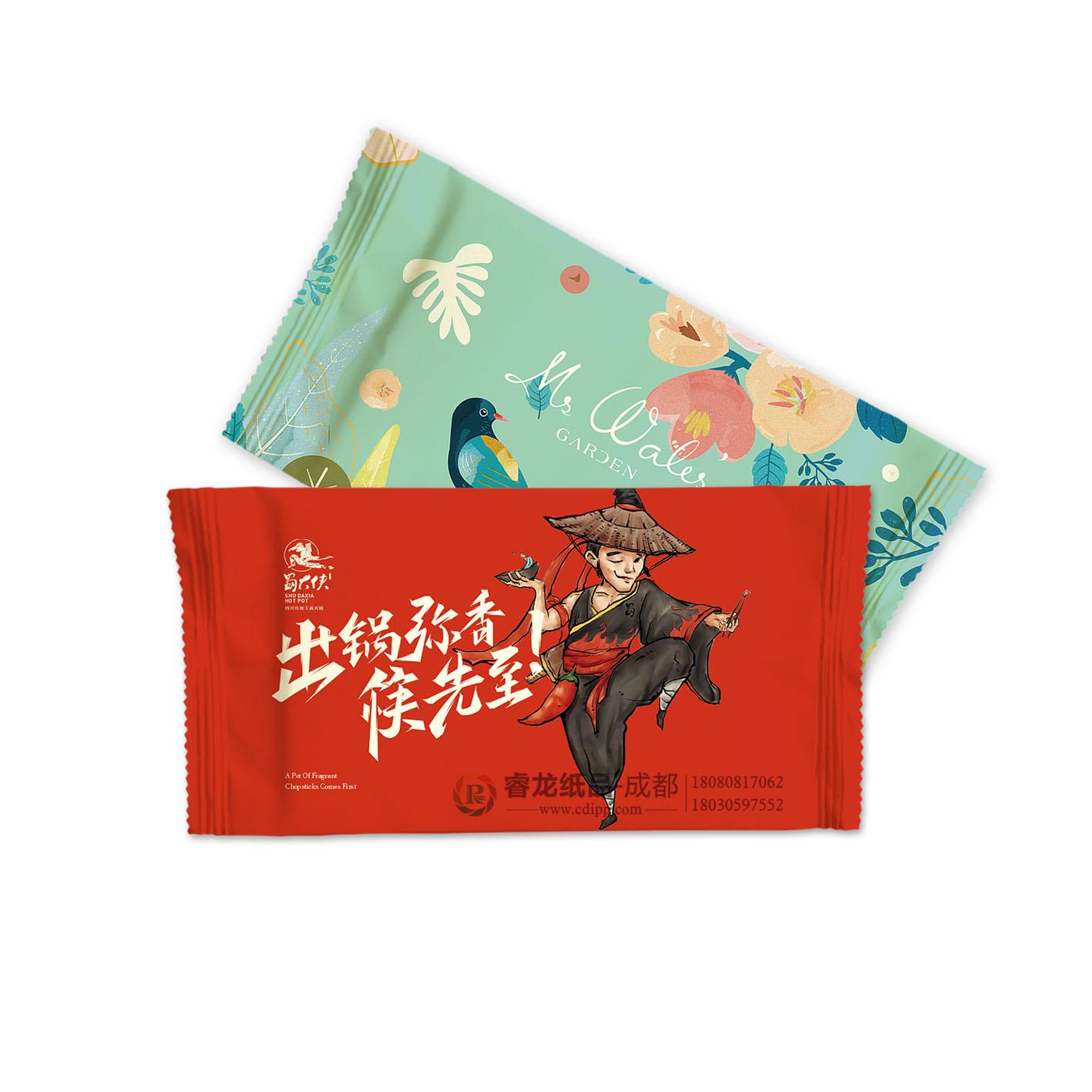 口碑佳☚成都广告湿纸巾定制★优惠的广告湿纸巾选购