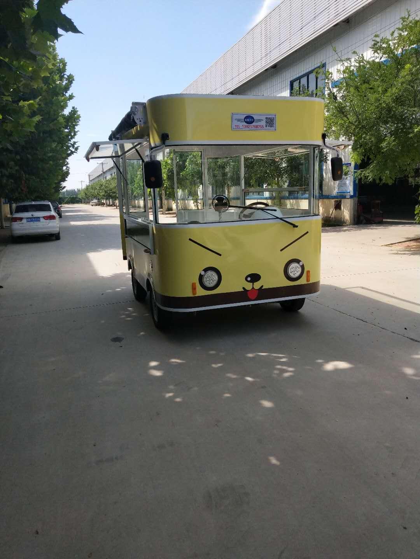 水果展销车,德州哪里有专业的电动四轮街景餐车供应