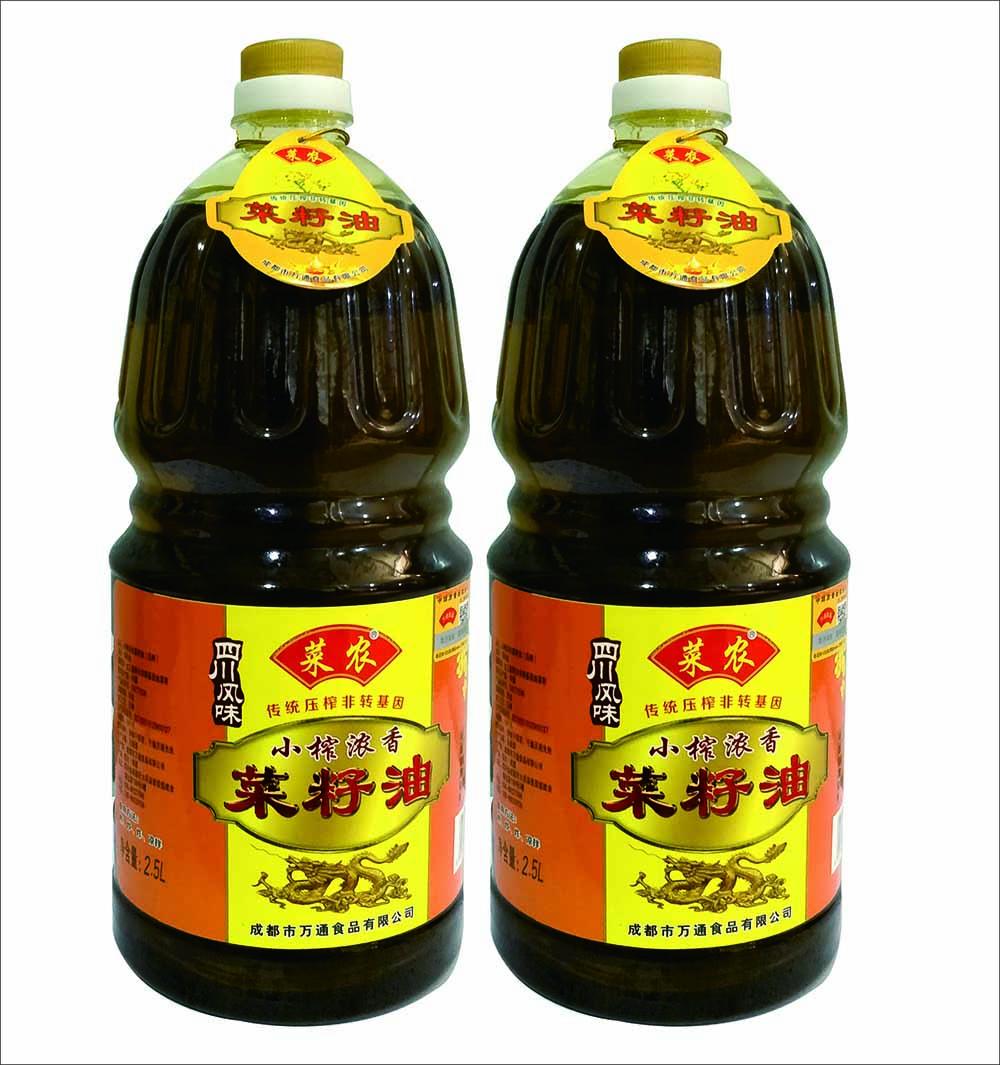 新品壓榨菜籽油 優惠的黃菜籽油成都萬通食品供應